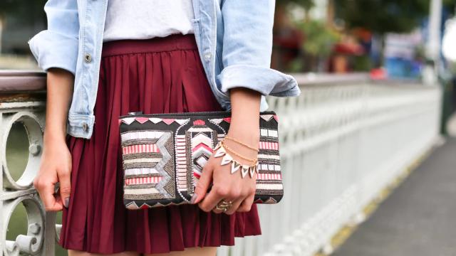 かわいいプリーツスカート