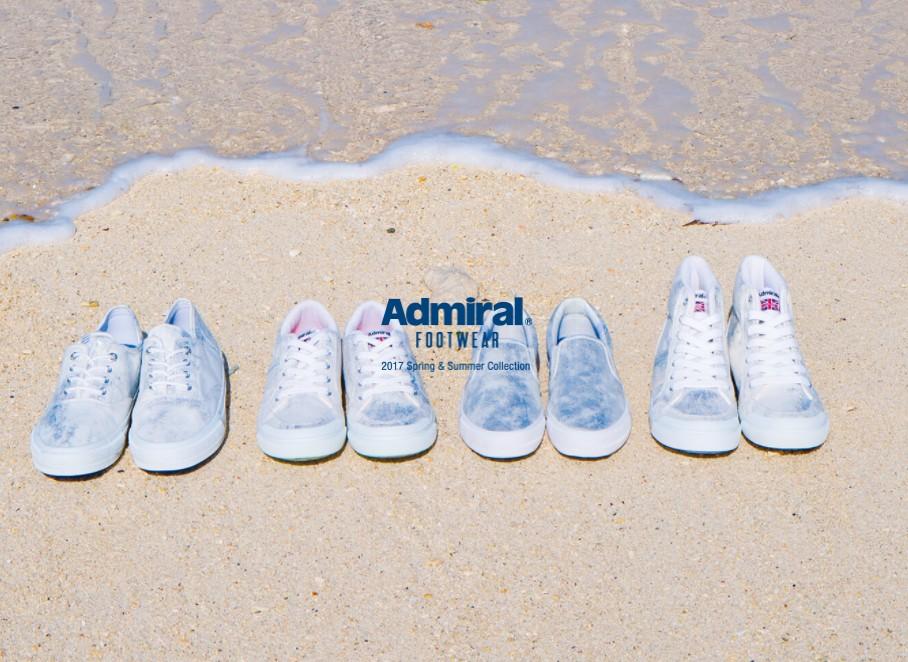 Admiral(アドミラル)の2017夏のスニーカーが可愛い♡海を思わせるデザインに注目