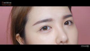 【簡単】韓国メイクの眉毛(平行眉)の書き方。本場オルチャンから動画で学ぼう♡日本語説明付き アイキャッチ画像