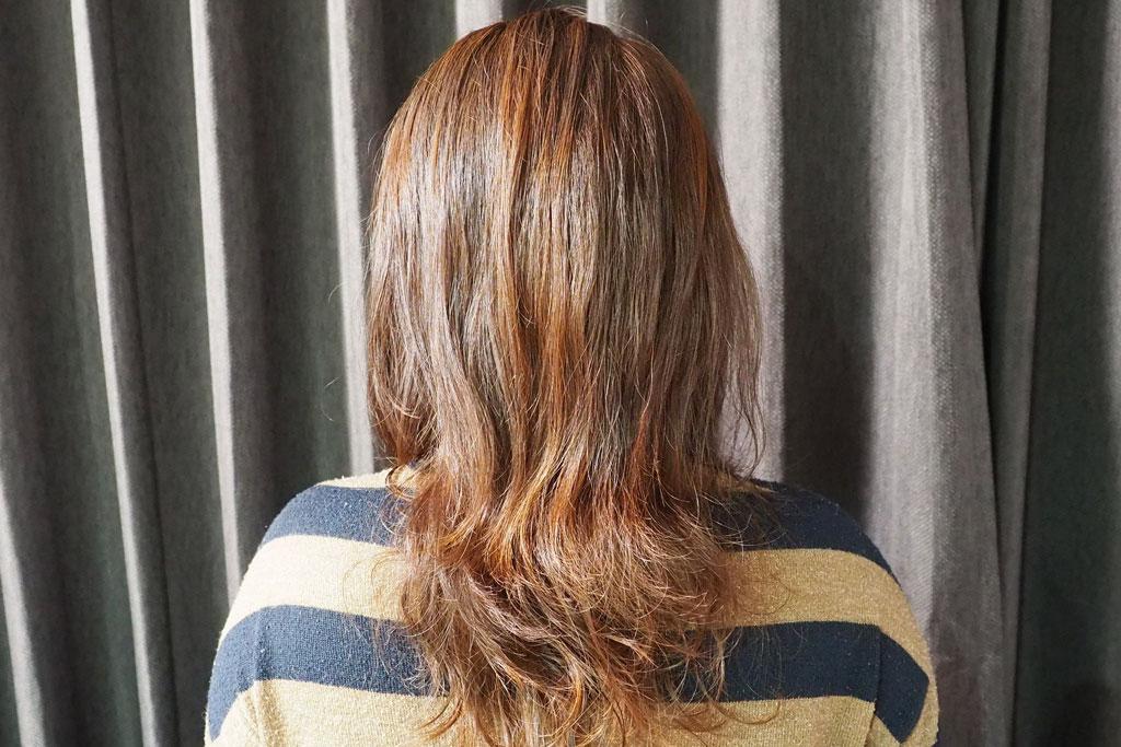 使用後の髪質