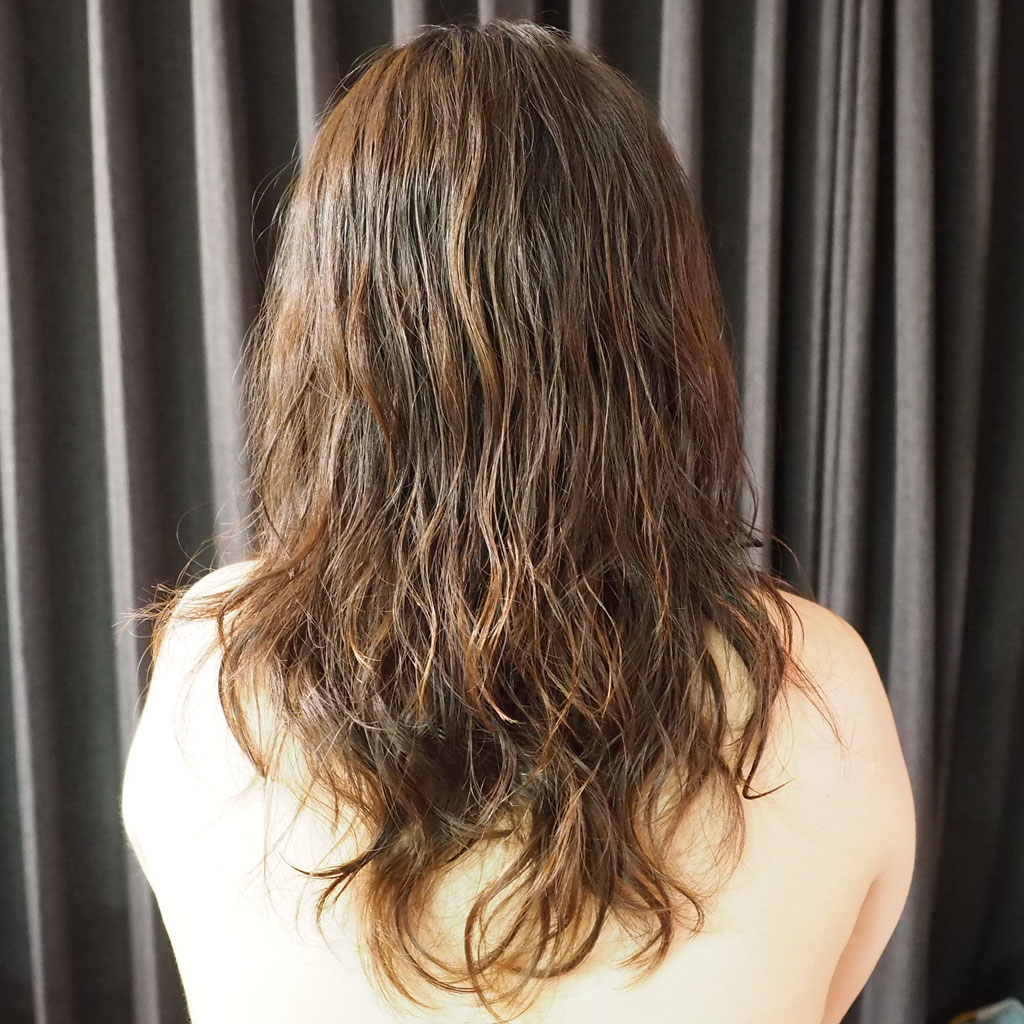 サボンモーヴ1週間使用後の髪質