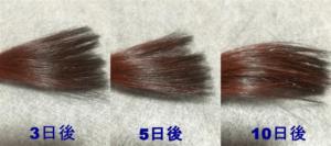 ブラウン色落ちの使用例1