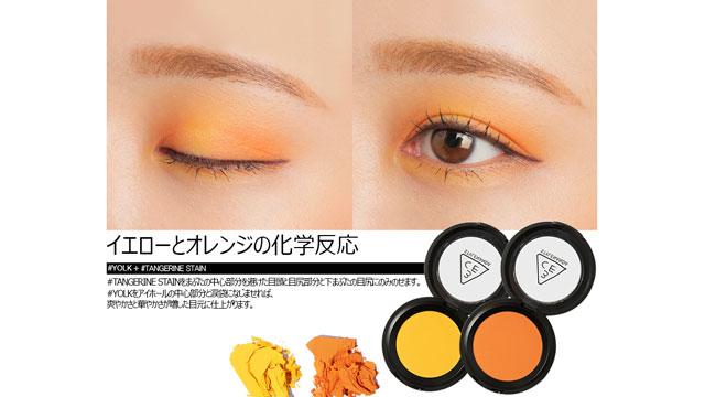 イエローとオレンジの化学反応