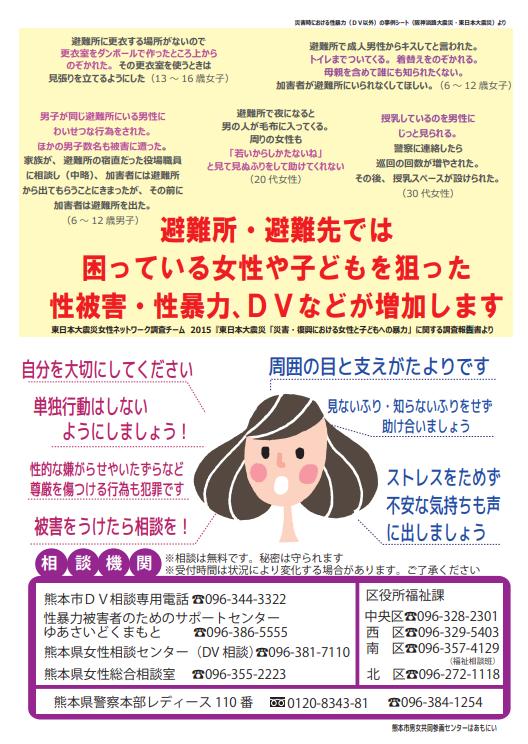 性被害・暴力啓発ポスター